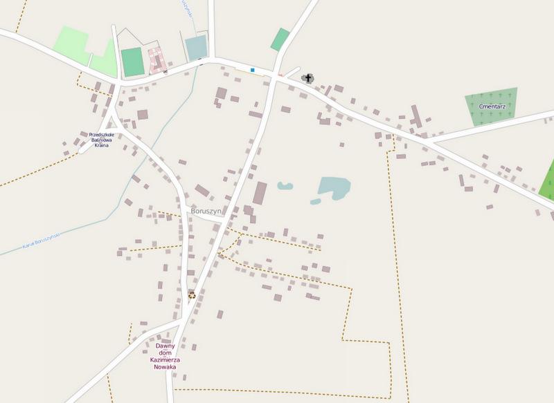 Stan mapy OSM nadzień 10 sierpnia 2013