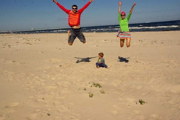 Rodzina+rower=radość, fot.samowyzwalacz
