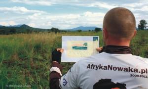 Ekipa etapu Angola 2 odnalazła miejsce, które wdzienniku Kazimierza Nowaka narysowała ... naodpowiedź musimy poczekać dozakończenia konkursu. fot.Mirek Wlekły
